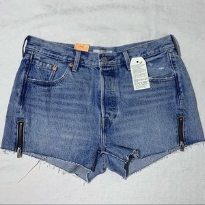 NWT Levi's Altered 501 Zip Shorts